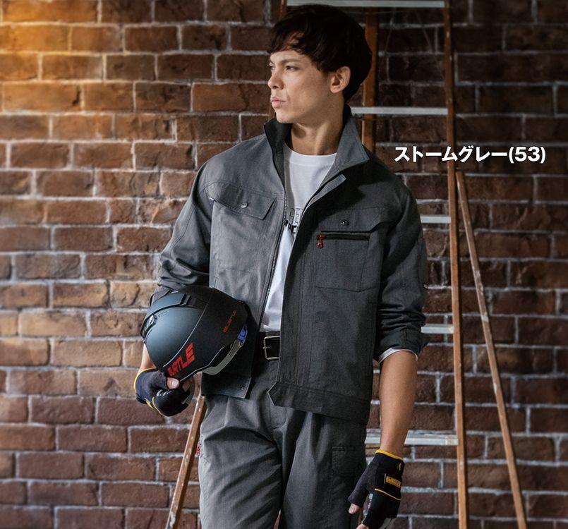 バートル バートル 8061 [春夏用]ヴィンテージライトチノ長袖ジャケット(男女兼用) 11-8061 ジャケット モデル着用雰囲気1