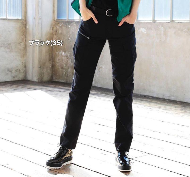 バートル バートル 9093 [春夏用]ストレッチ制電ユニセックスパンツ(男女兼用) 11-9093 ユニセックスパンツ モデル着用雰囲気1