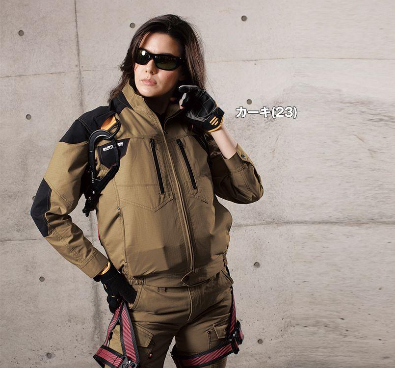 バートル バートル AC1141SET エアークラフトセット 綿100% ハーネス対応  長袖ブルゾン(男女兼用) 11-AC1141SET エアークラフトブルゾン(男女兼用) モデル着用雰囲気1