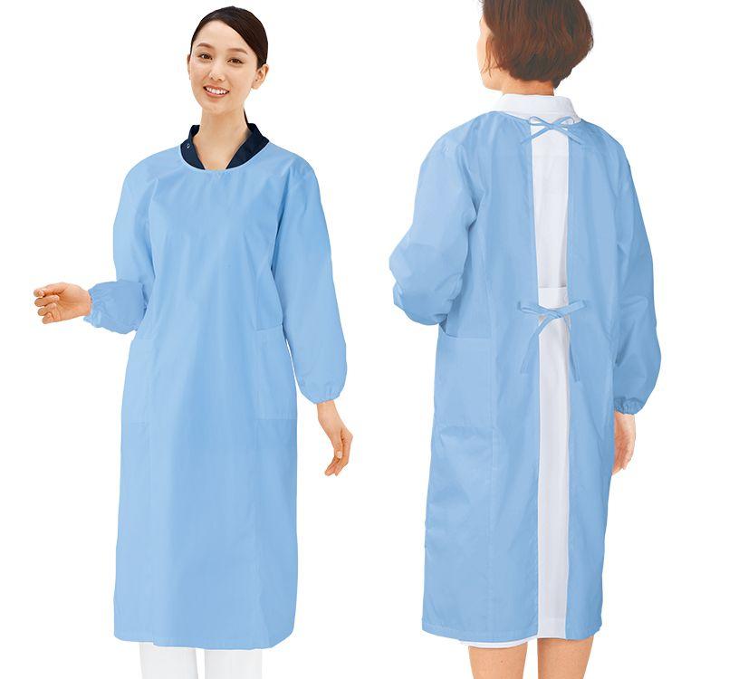 自重堂 WH13150 WHISEL 抗ウイルス加工予防衣(男女兼用) 56-WH13150 モデル着用雰囲気1