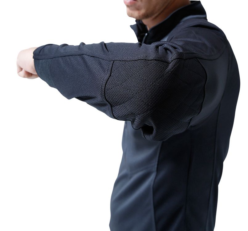 TS DESIGN(藤和) TS DESIGN 846305 [春夏用]ワークニット 長袖ドライポロシャツ(男女兼用) 14-846305 ワークニットロングシャツ モデル着用雰囲気4
