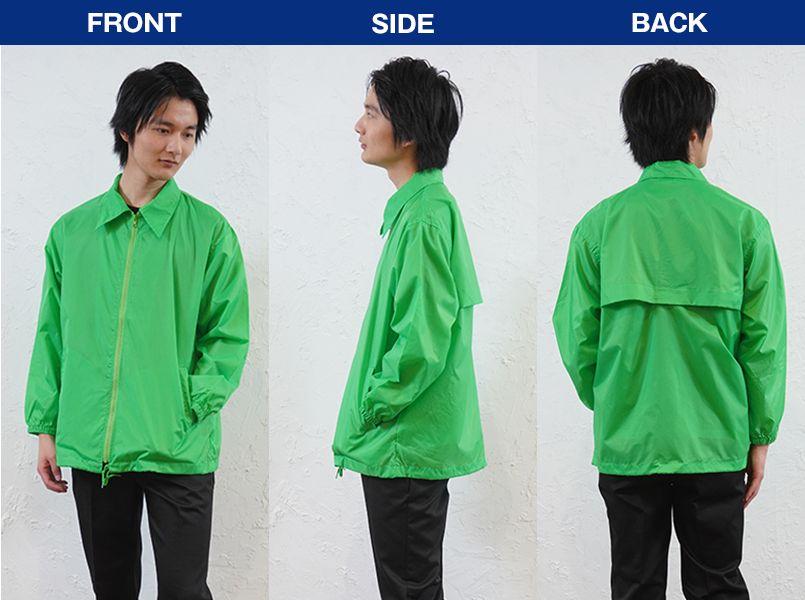 AZ50101 アイトス 裏メッシュジャケット(男女兼用) モデル前後(メンズ)