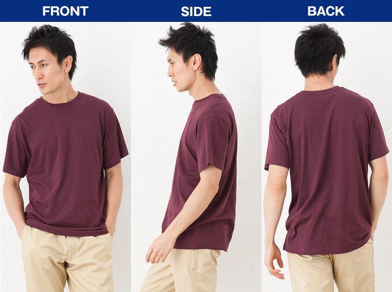 [廃番]MS1138 LIFEMAX ユーロTシャツ 3.8オンス 綿100% モデル前後(メンズ)