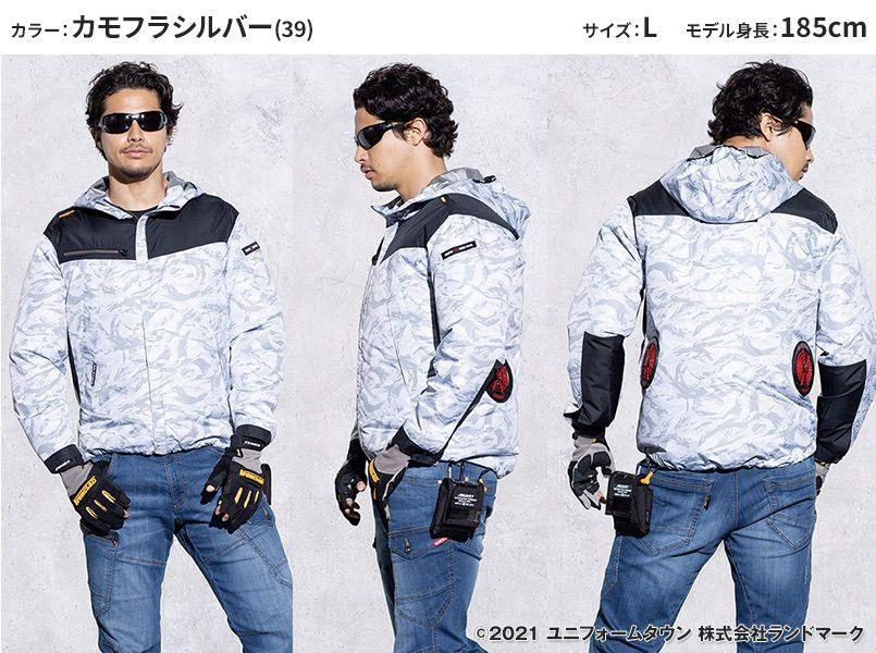 空調服 バートル AC1091 [春夏用]エアークラフト パーカージャケット(男女兼用) モデル前後(メンズ)