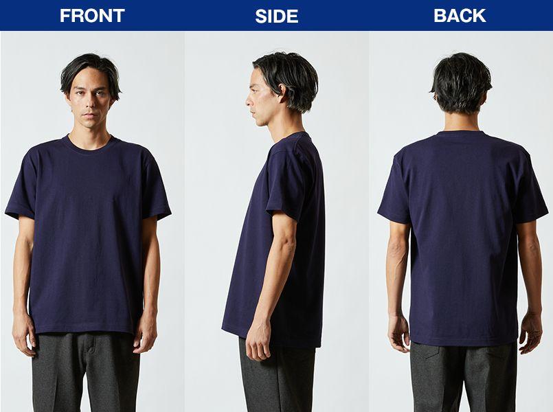 特厚Tシャツ(7.1オンス)(男女兼用) モデル前後(メンズ)