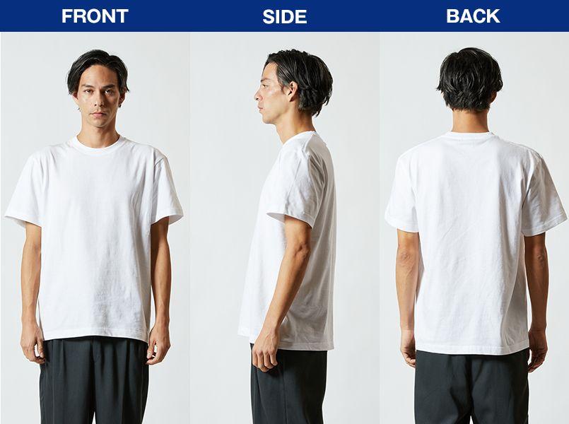 定番Tシャツ(5.6オンス)(男女兼用) モデル前後(メンズ)