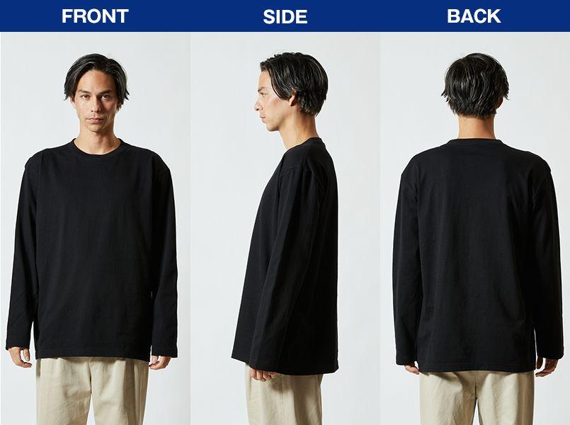 ロングスリーブTシャツ(5.6オンス)(男女兼用) モデル前後(メンズ)