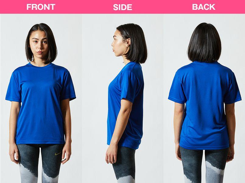 ドライシルキータッチTシャツ 4.7オンス(男女兼用) モデル前後(レディース)