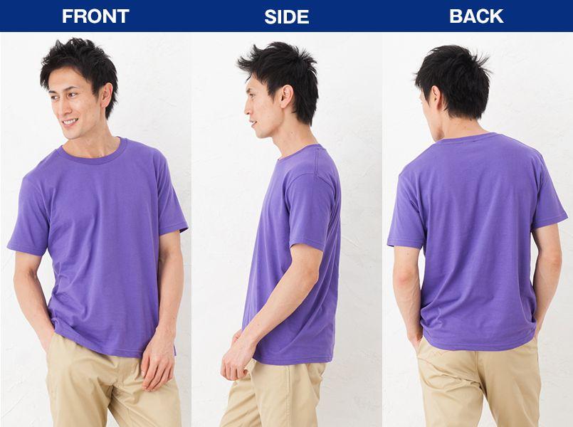 レギュラーフィットTシャツ(5.0オンス)(男女兼用) モデル前後(メンズ)
