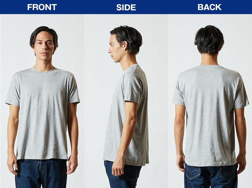 薄手Tシャツ(4.0オンス)(男女兼用) モデル前後(メンズ)