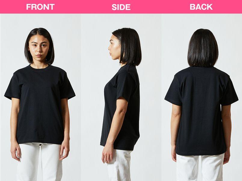 ハイグレードTシャツ(6.2オンス)(男女兼用) モデル前後(レディース)