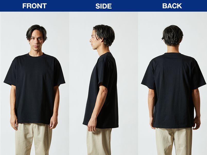 ハイグレードTシャツ(6.2オンス)(男女兼用) モデル前後(メンズ)
