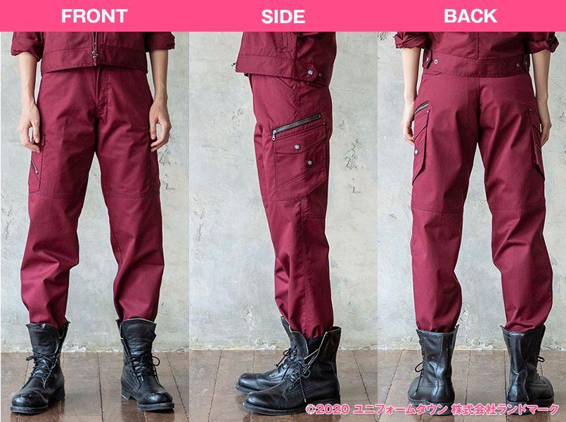 自重堂 52102 [秋冬用]JAWIN ノータックカーゴパンツ(新庄モデル) 裾上げNG モデル前後(レディース)