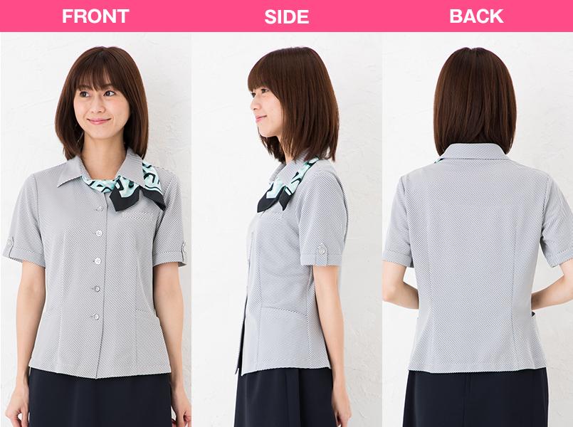 S-50120 50121 50122 50126 SELERY(セロリー) ニット オーバーシャツ モデル前後(レディース)