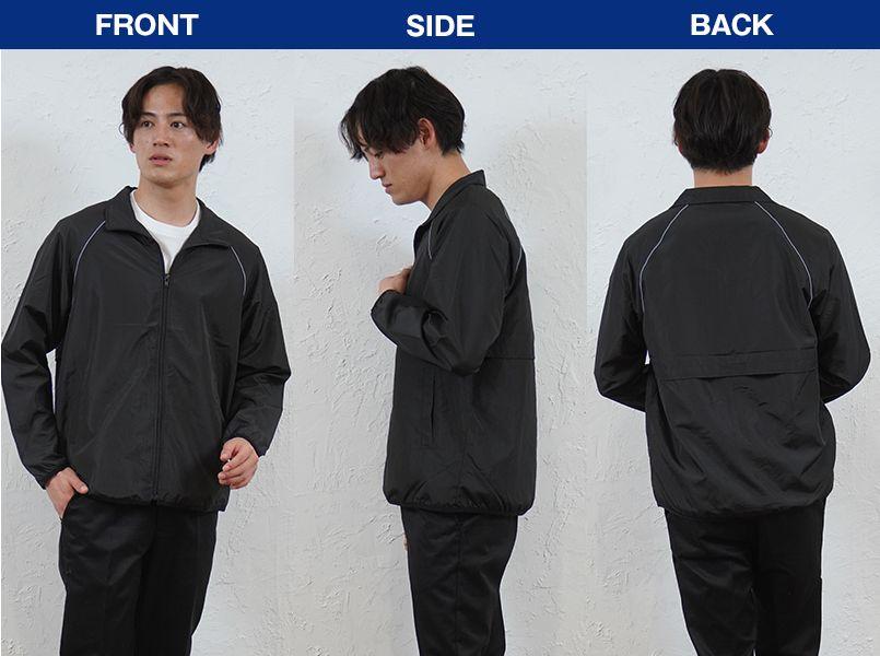 00061-RSJ リフレクスポーツジャケット(男女兼用) モデル前後(メンズ)