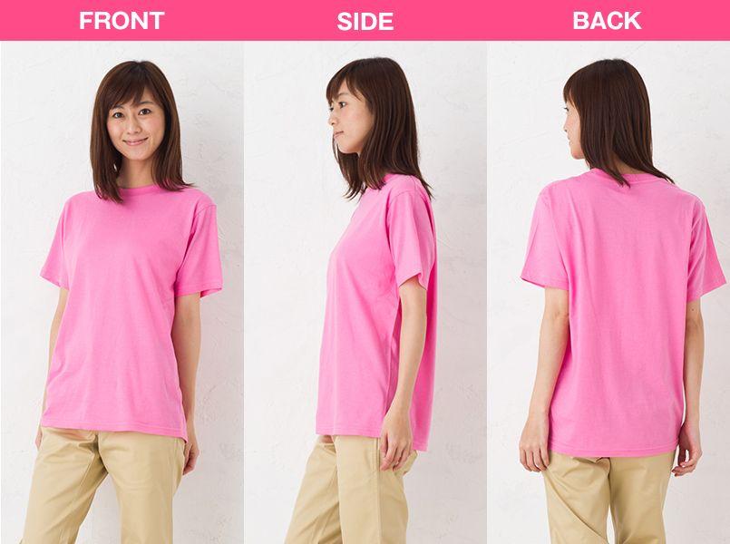 00083-BBT ライトウェイトTシャツ(やや薄めの4.0オンス)(男女兼用) モデル前後(レディース)