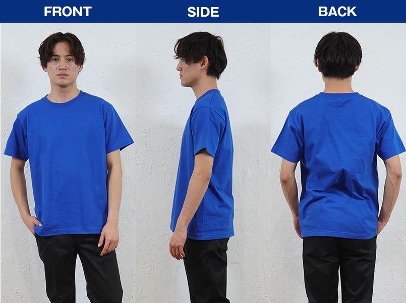 00083-BBT ライトウェイトTシャツ(やや薄めの4.0オンス)(男女兼用) モデル前後(メンズ)