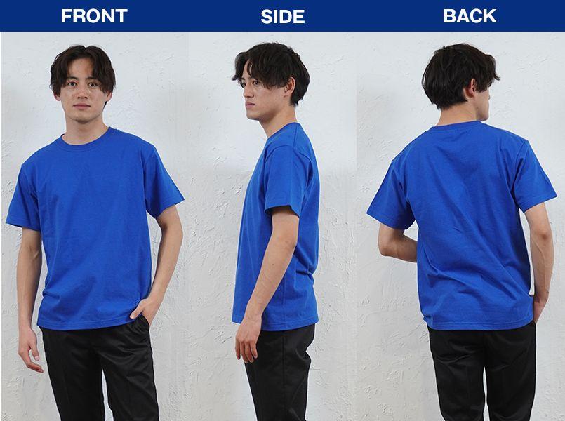 00148-HVT 7.4オンス スーパーヘビーTシャツ(男女兼用) モデル前後(メンズ)