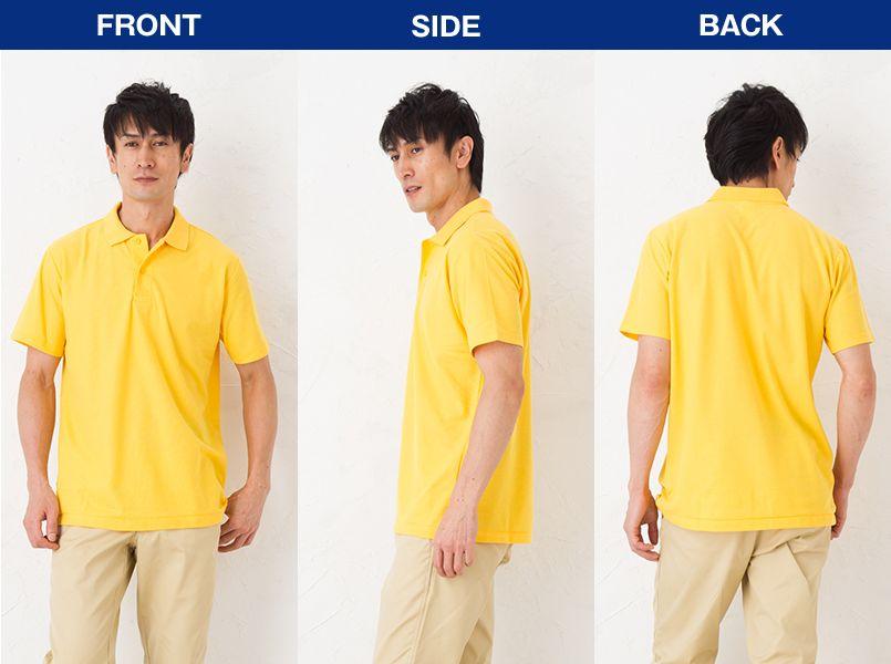 00193-CP カジュアルポロシャツ(ポケ無し)(4.9オンス)(男女兼用) モデル前後(メンズ)