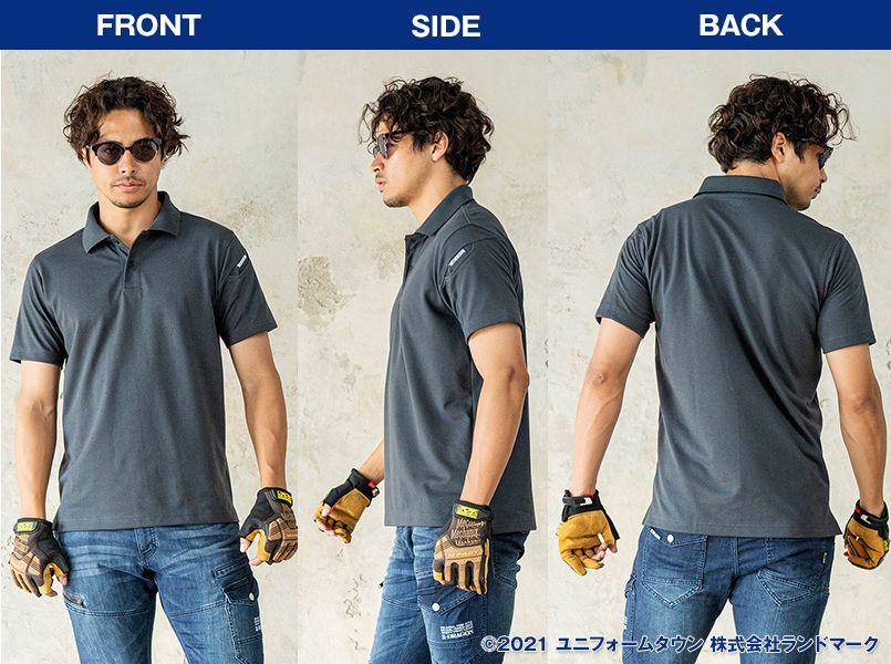 TS DESIGN 4065 ESショートスリーブポロシャツ(男女兼用) モデル前後(メンズ)