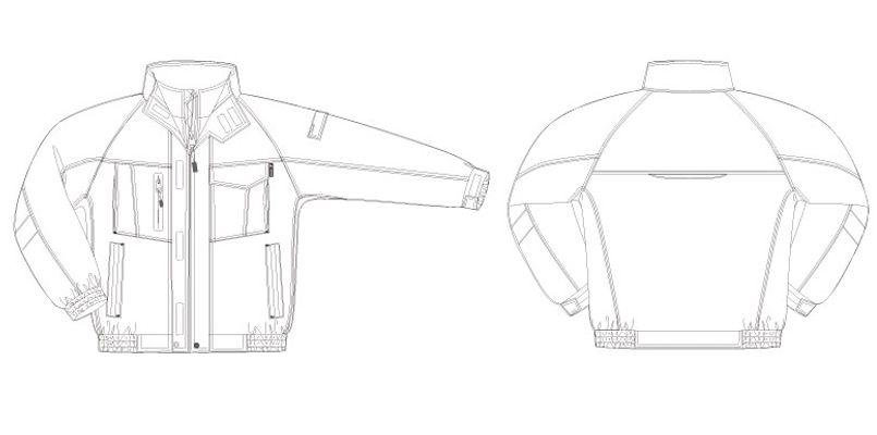 アイトス AZ10305 タルテックス リフレクションヒート防寒ブルゾン ハンガーイラスト・線画