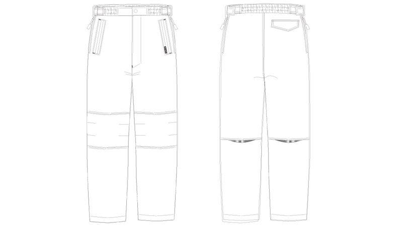 アイトス AZ10306 タルテックス リフレクションヒート防寒パンツ ハンガーイラスト・線画