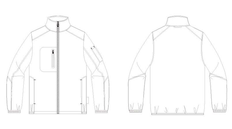 アイトス AZ10307 タルテックス [秋冬用]軽量防寒ジャケット ハンガーイラスト・線画
