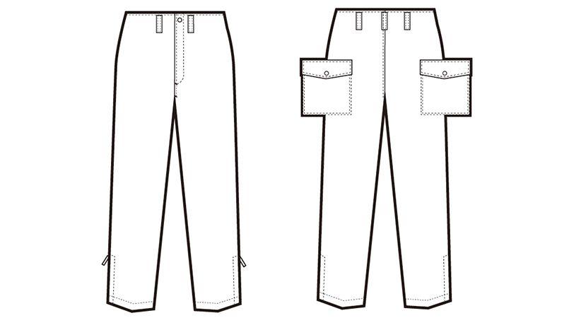 AZ10752 アイトス カストロパンツ ハンガーイラスト・線画