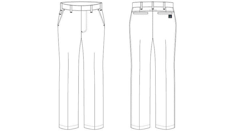アイトス AZ30550 ペンタスストレッチ ワークパンツ(ノータック) (男女兼用) ハンガーイラスト・線画