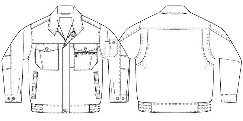 アイトス AZ3201 帯電防止ツイル長袖ブルゾン ハンガーイラスト・線画