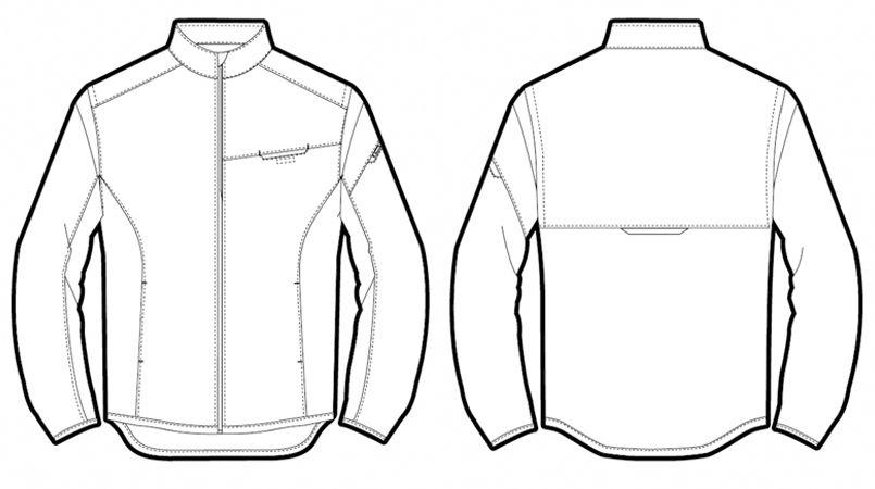 AZ50113 アイトス アームアップジャケット(スタッフブルゾン) ハンガーイラスト・線画