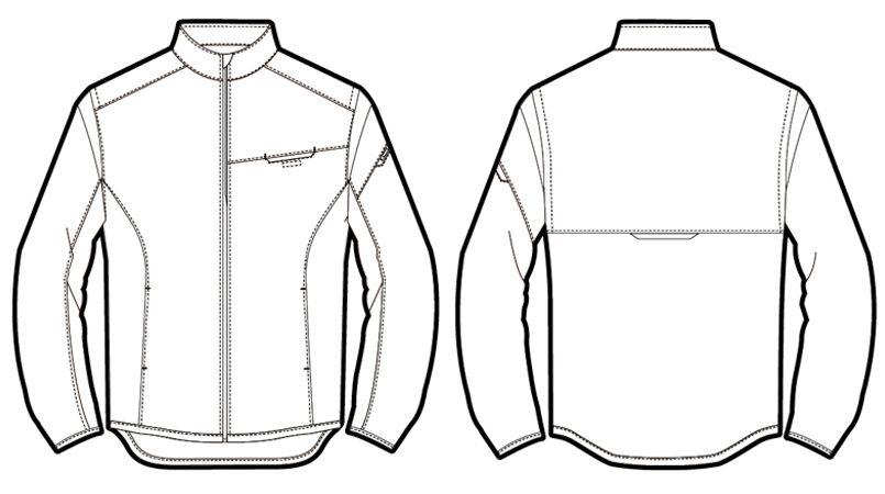 アイトス AZ50115 [秋冬用]アームアップ防寒ジャケット ハンガーイラスト・線画