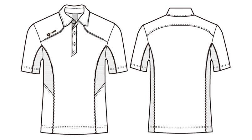 AZ551033 アイトス タルテックス 遮熱(-3℃)ドライポロシャツ(男女兼用) ハンガーイラスト・線画