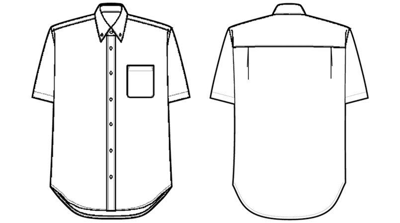 AZ56109 アイトス アロハシャツ(ハワイの夜)(男女兼用) ハンガーイラスト・線画