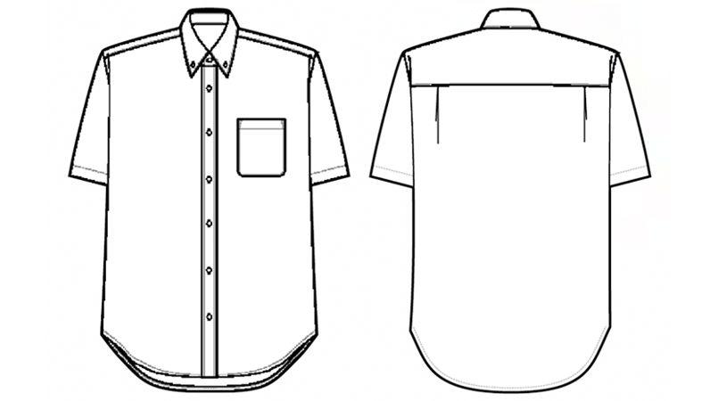 AZ56110 アイトス アロハシャツ(カジーマ)(男女兼用) ハンガーイラスト・線画