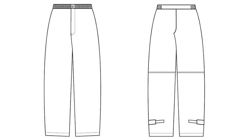 AZ56204 アイトス レインパンツ ハンガーイラスト・線画