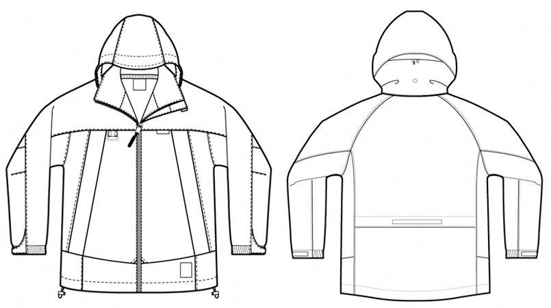 AZ56301 アイトス ディアプレックス 全天候型ジャケット ハンガーイラスト・線画