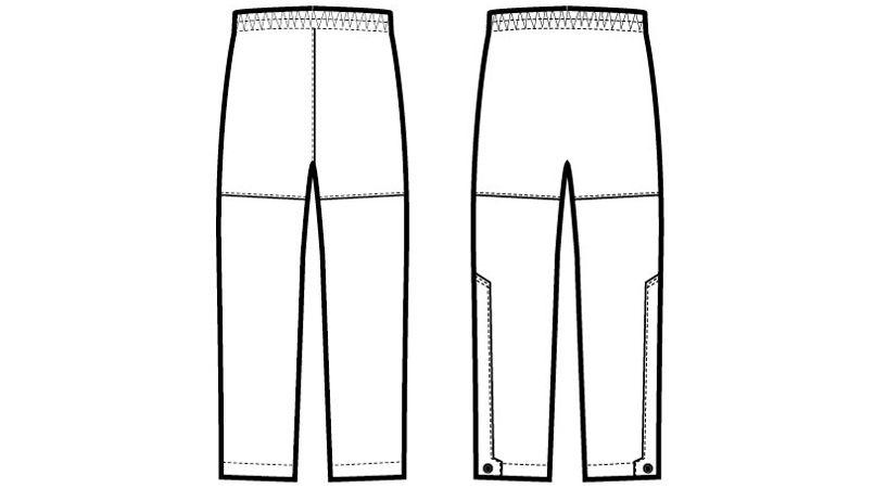 アイトス AZ56302 ディアプレックス 全天候型パンツ ハンガーイラスト・線画