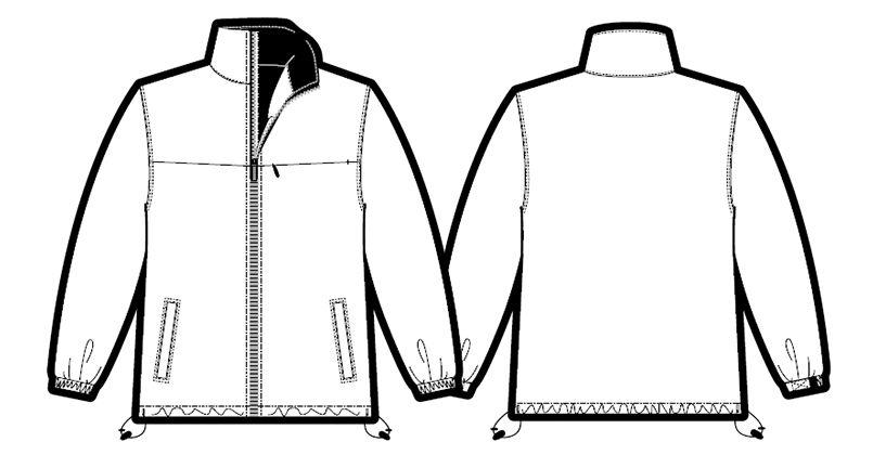 AZ5850 アイトス [在庫限り]AZ5850 アイトス エコ 軽防寒コート ハンガーイラスト・線画