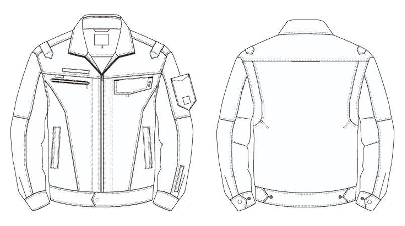 アイトス AZ60401 [秋冬用]長袖ブルゾン(男女兼用) ハンガーイラスト・線画