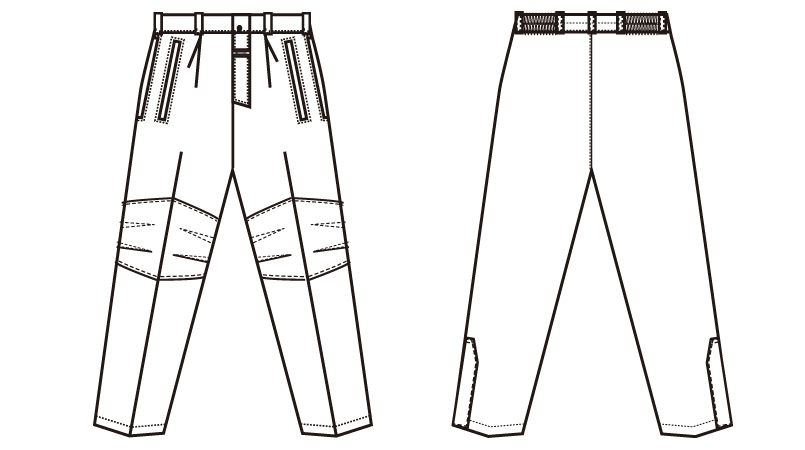 アイトス AZ6062 寒冷地対応 光電子 防風防寒着ズボン ハンガーイラスト・線画