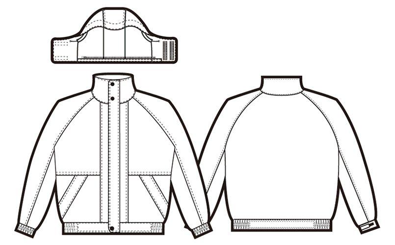 AZ6161 アイトス 光電子 軽量 防水防寒ブルゾン ハンガーイラスト・線画