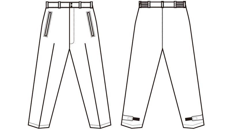 アイトス AZ8472 [秋冬用]タルテックス 業務用 防風防寒ズボン(パンツ) ハンガーイラスト・線画