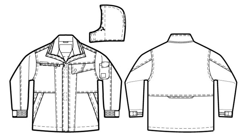 アイトス AZ8560 防風防寒コート[フード付き・取り外し可能] ハンガーイラスト・線画