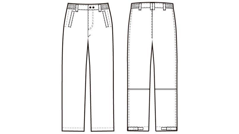 アイトス AZ8562 防風防寒パンツ ハンガーイラスト・線画
