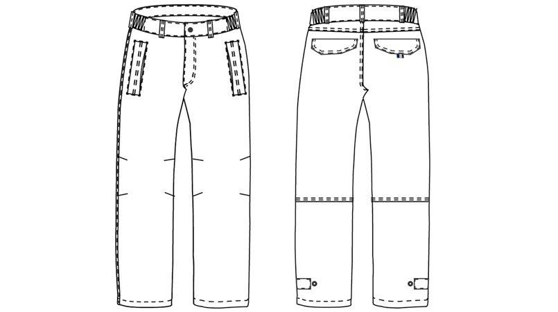 AZ8572 アイトス 防寒パンツ(男女兼用) ハンガーイラスト・線画