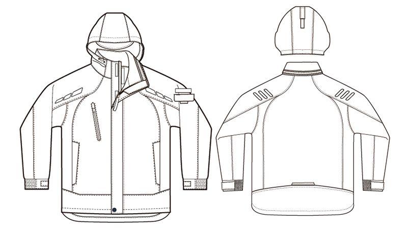 AZ8860 アイトス 防寒コート ハンガーイラスト・線画