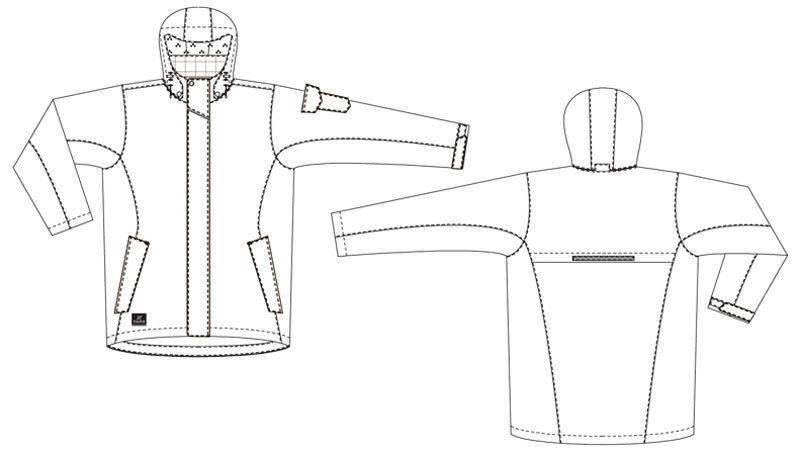 AZ8870 アイトス 防水防寒コート(男女兼用) ハンガーイラスト・線画