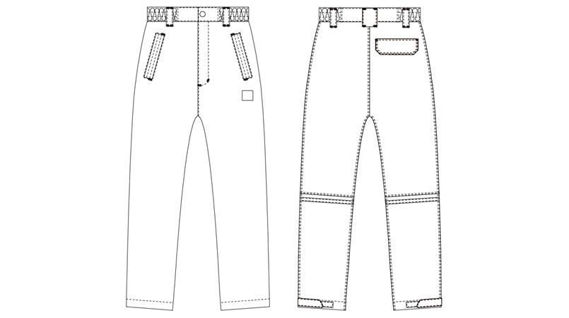 AZ8872 アイトス 防水防寒パンツ(男女兼用) ハンガーイラスト・線画