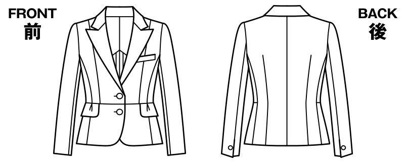 BONMAX AJ0232 [通年]エクセラ ジャケット 無地 お手入れ簡単 ハンガーイラスト・線画